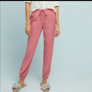 Anthropologie Cloth & Stone Side Button Joggers